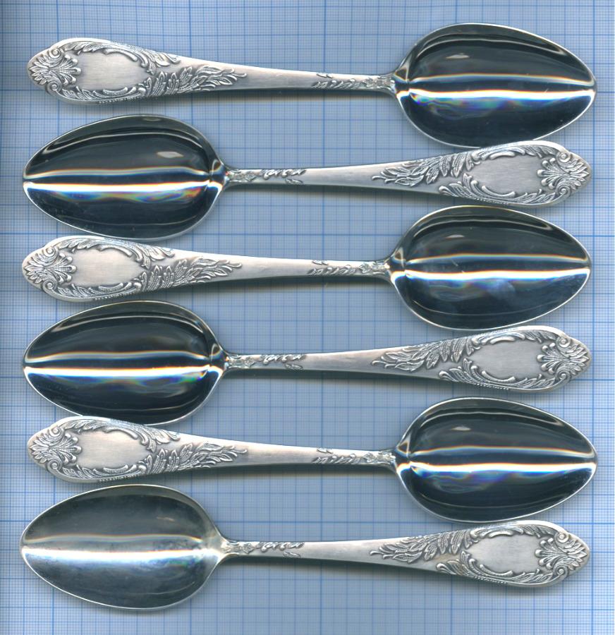 Набор столовых ложек (серебрение, 925 проба)