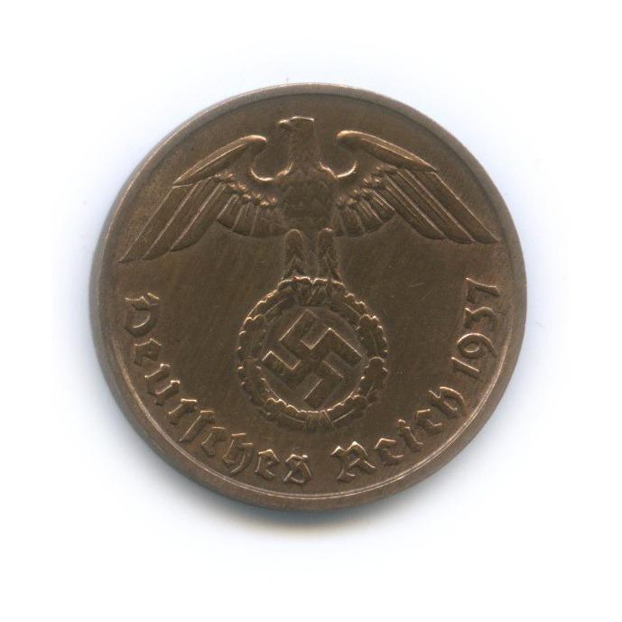 2 рейхспфеннига 1937 года D (Германия (Третий рейх))