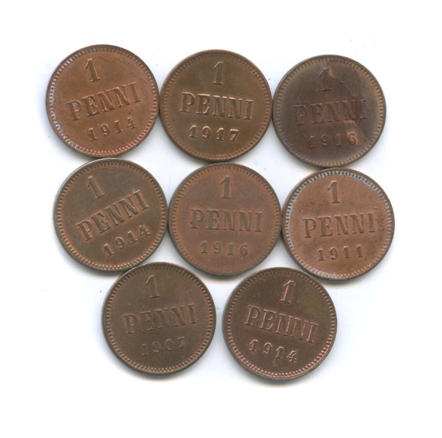 Набор монет 1 пенни (Российская Империя)