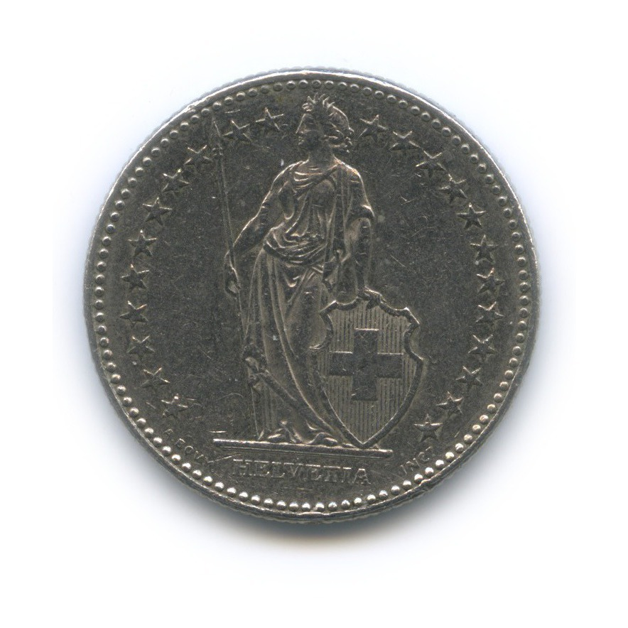 2 франка 1988 года (Швейцария)