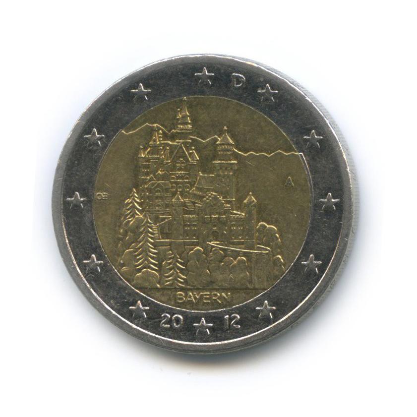 2 евро — Федеральные земли Германии - Замок Нойшванштайн, Бавария 2012 года A (Германия)