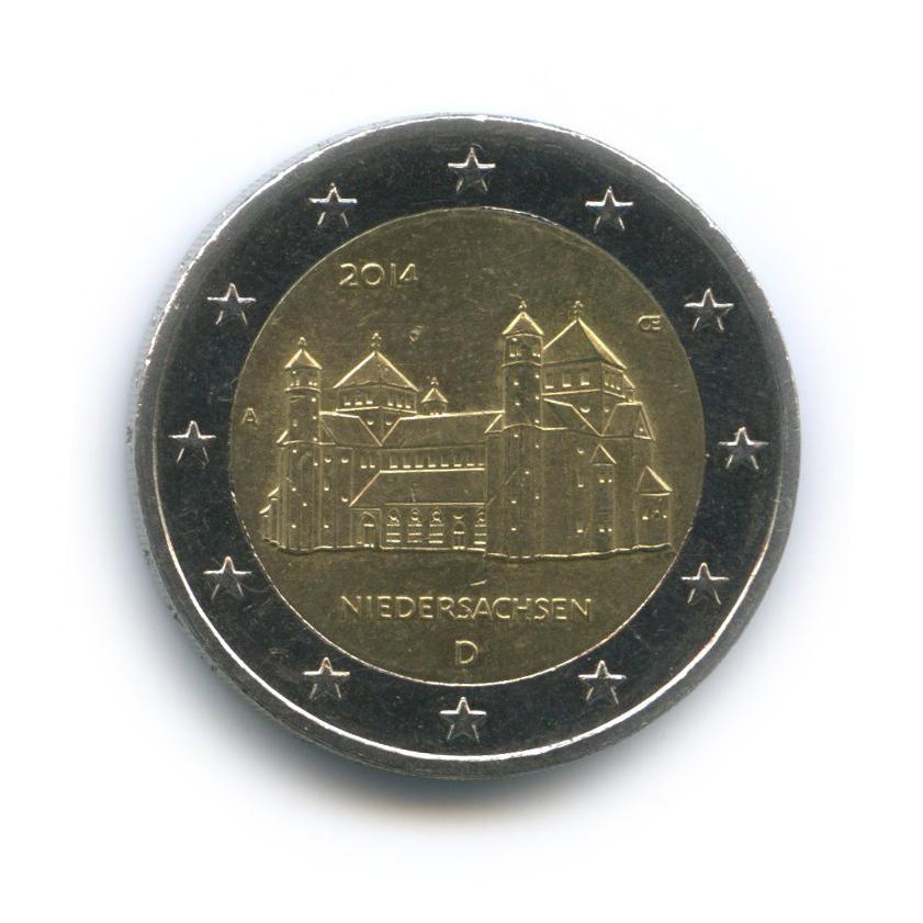 2 евро - Федеральные земли Германии: Хильдесхайм (Церковь св. Михаила) 2014 года А (Германия)