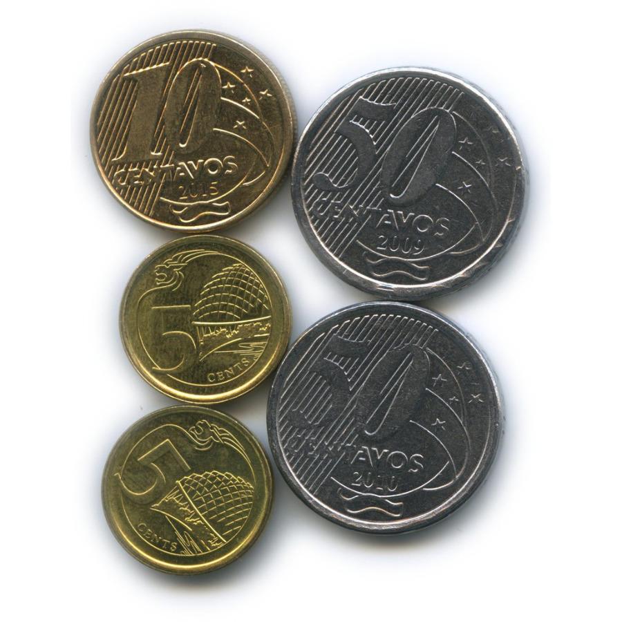 Набор монет (Бразилия, Сингапур)