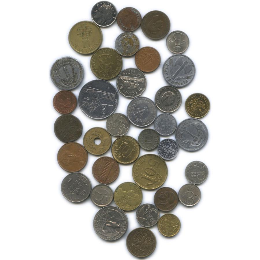 Набор монет (разные страны, 37 шт.)