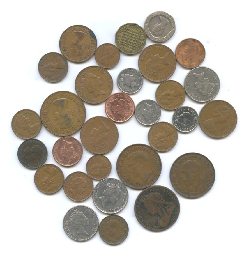 Набор монет (30 шт.) (Великобритания)