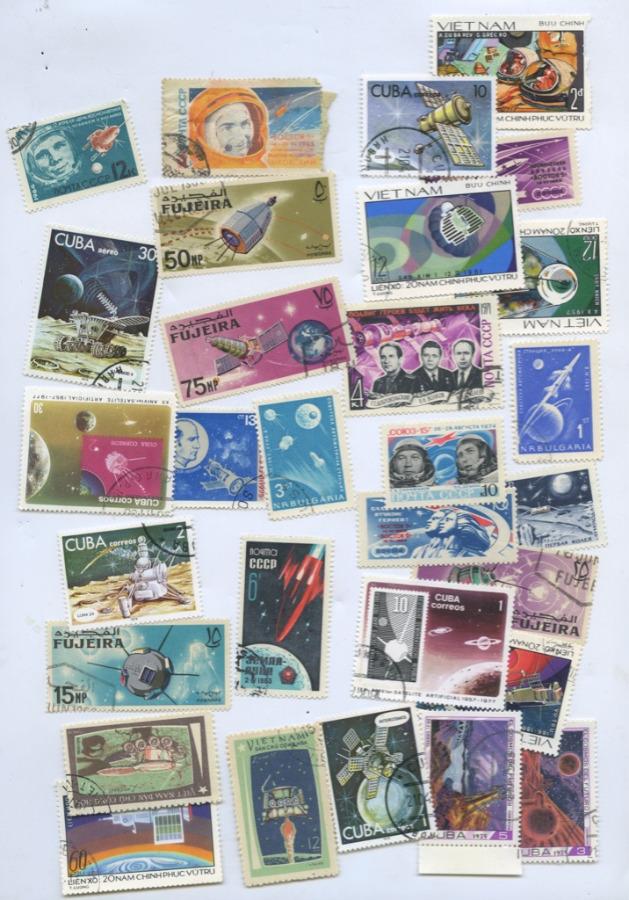 Набор почтовых марок «Космос» (разные страны, вконверте СССР)