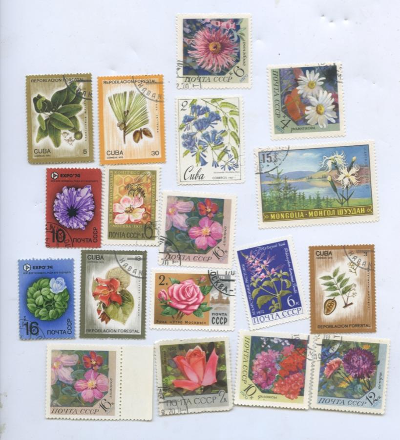 Набор почтовых марок «Флора» (вконверте СССР) (СССР)