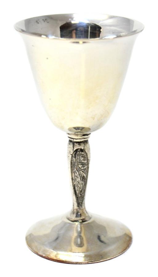 Бокал для вина «Yeoman» (серебрение, 9,5 см) (Великобритания)