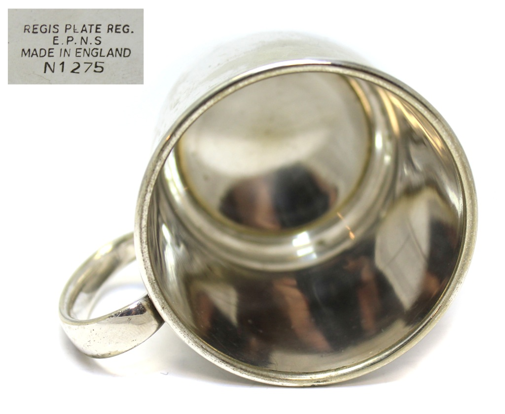 Кружка «Regis Plate» (серебрение, 7 см) (Великобритания)