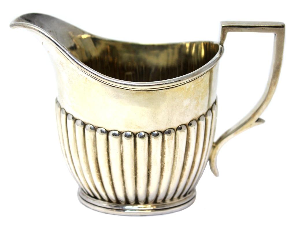 Сливочник-молочник «Alpha» (серебрение, клейма, 9 см) (Великобритания)
