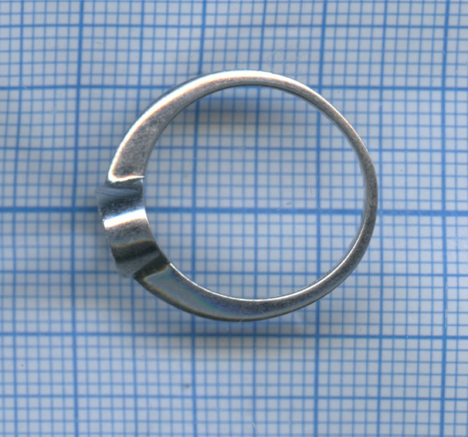 Кольцо сфианитами (серебро 925 пробы)