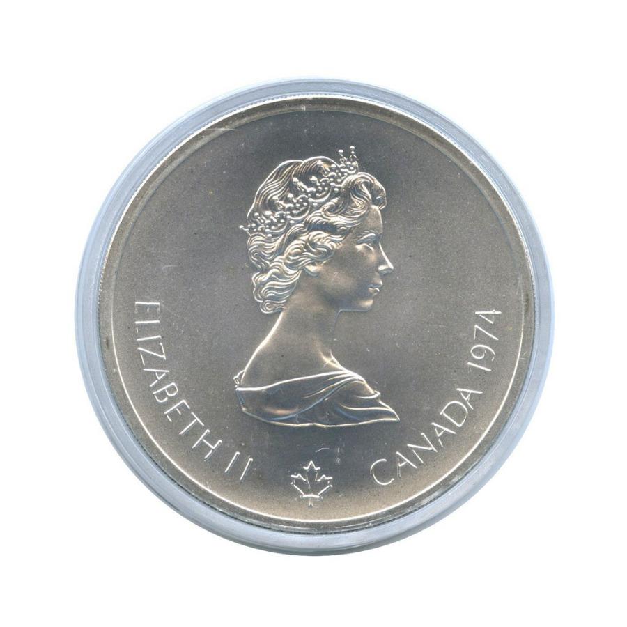 10 долларов - XXI летние Олимпийские Игры - Лакросс, Монреаль 1976 (вкапсуле) 1974 года (Канада)
