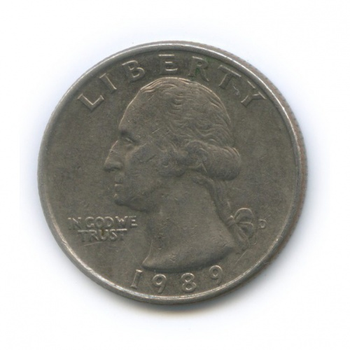 25 центов (квотер) 1989 года D (США)