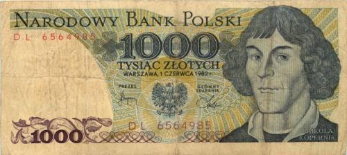 1000 злотых 1982 года (Польша)