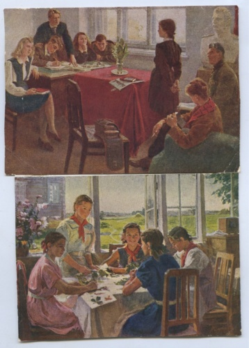 Набор почтовых карточек 1952, 1953 (СССР)