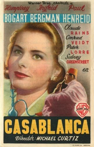 Реклама фильма «Касабланка» 1947 года (США)