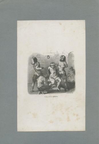 Гравюра «Камера пыток» (середина XIX века) (Испания)