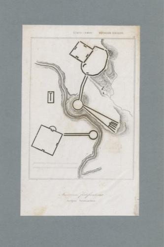 Гравюра «Фортификационный план американского форта США» (начало XIX века) (Испания)