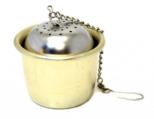 Ситечко для заваривания чая сподставкой (Fackelmann, 4 см, 3,5 см)