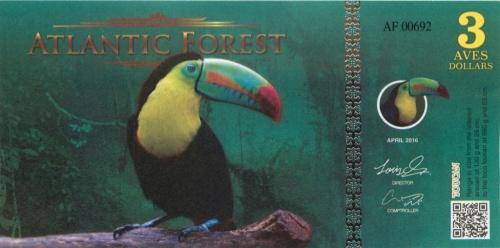 3 доллара (Атлантический лес) 2016 года