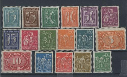 Набор почтовых марок 1921, 1922 (Германия)