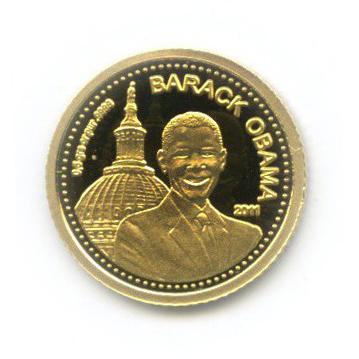 1500 франков - 44-й президент США - Барак Обама, Кот-д'Ивуар 2011 года