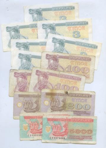 Набор банкнот (купонов) (Украина)