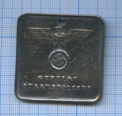 Жетон Гестапо «Geheime Staatspolizei» (копия) (Германия (Третий рейх))