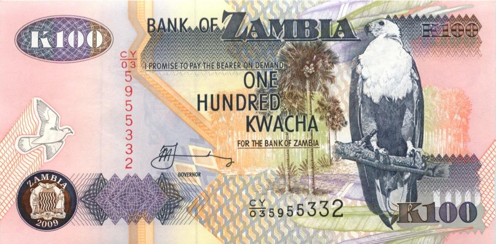 100 квача (Замбия) 2009 года