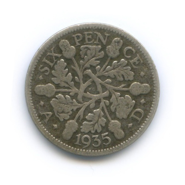 6 пенсов 1935 года (Великобритания)
