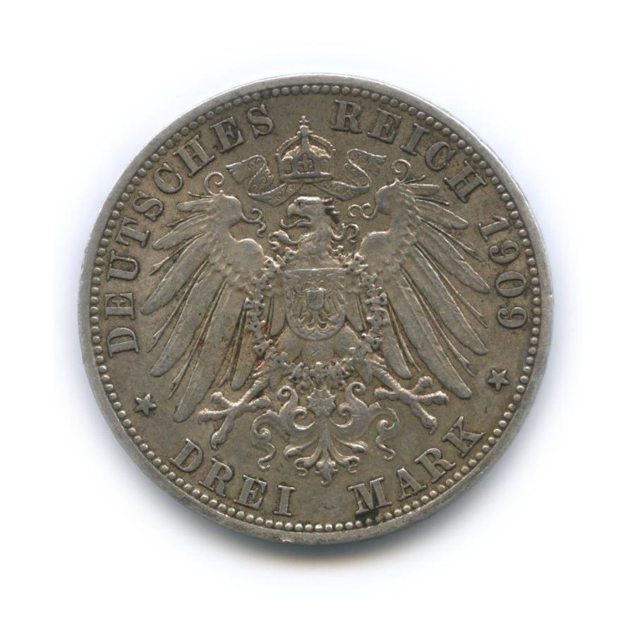 3 марки - Вильгельм II, Пруссия 1909 года