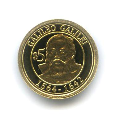 5 долларов - Галилео Галилей, Науру 2010 года