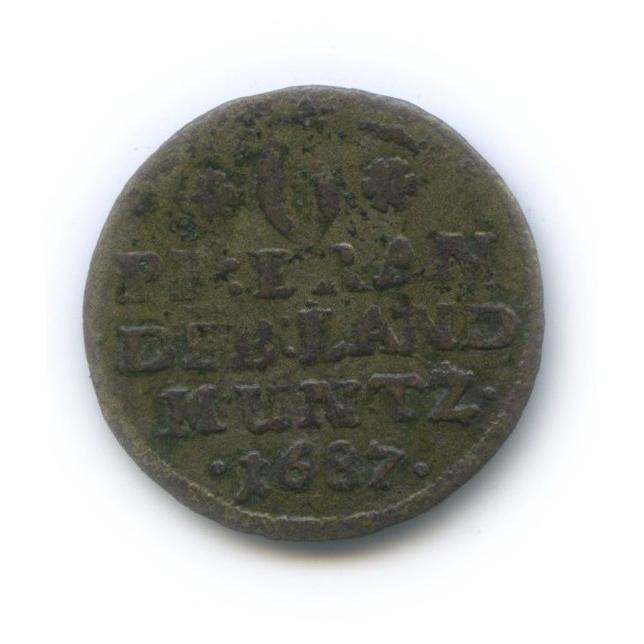 6 пфеннигов - Фридрих Вильгельм, Пруссия 1687 года