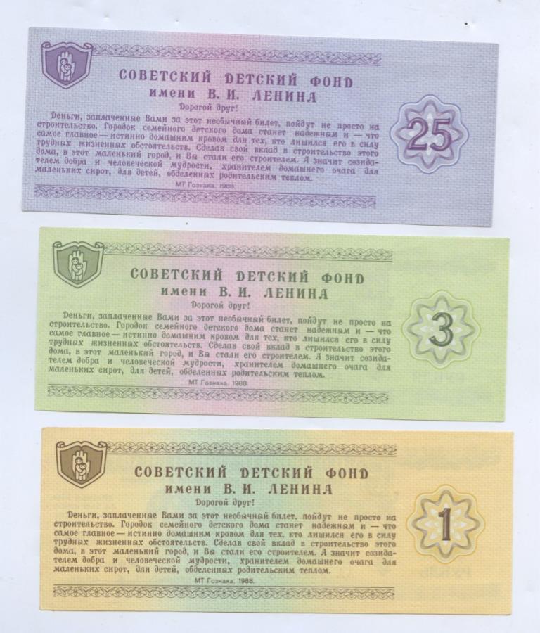 Набор благотворительных билетов 1988 года (СССР)