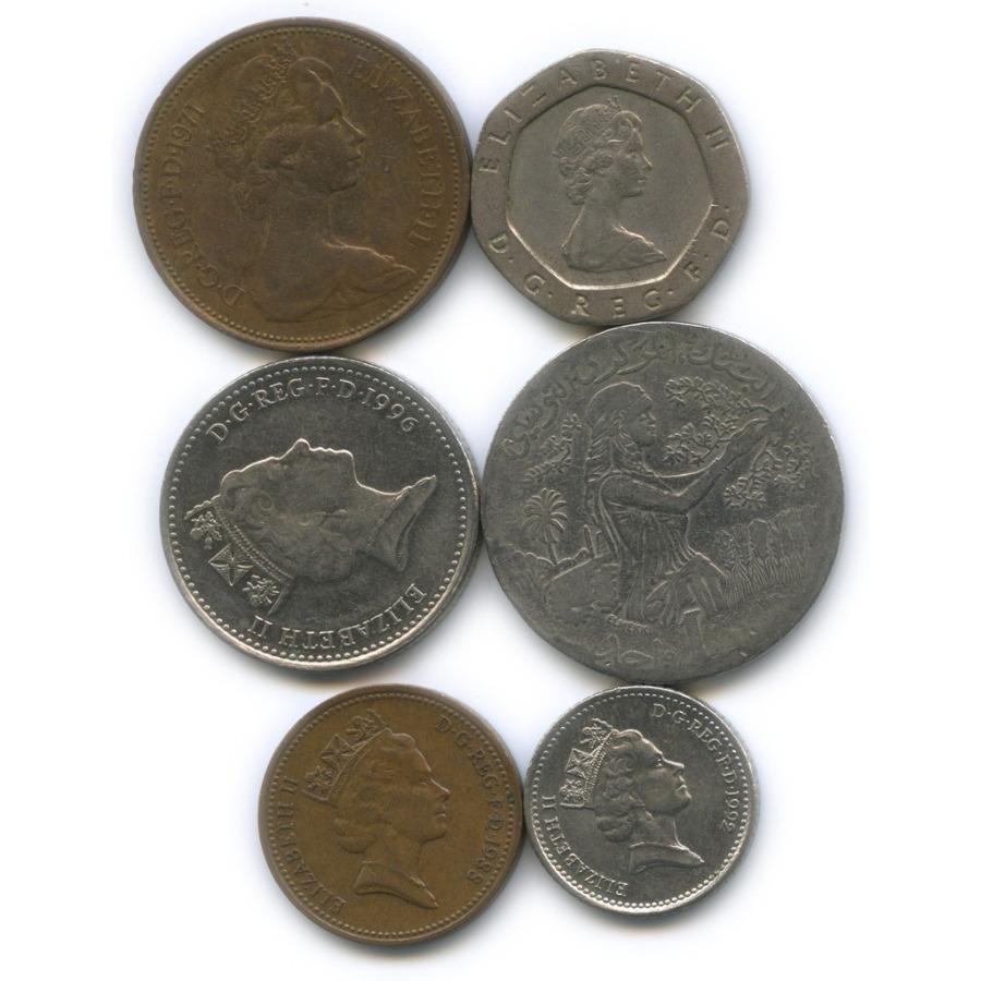 Набор монет (Великобритания, Тунис)