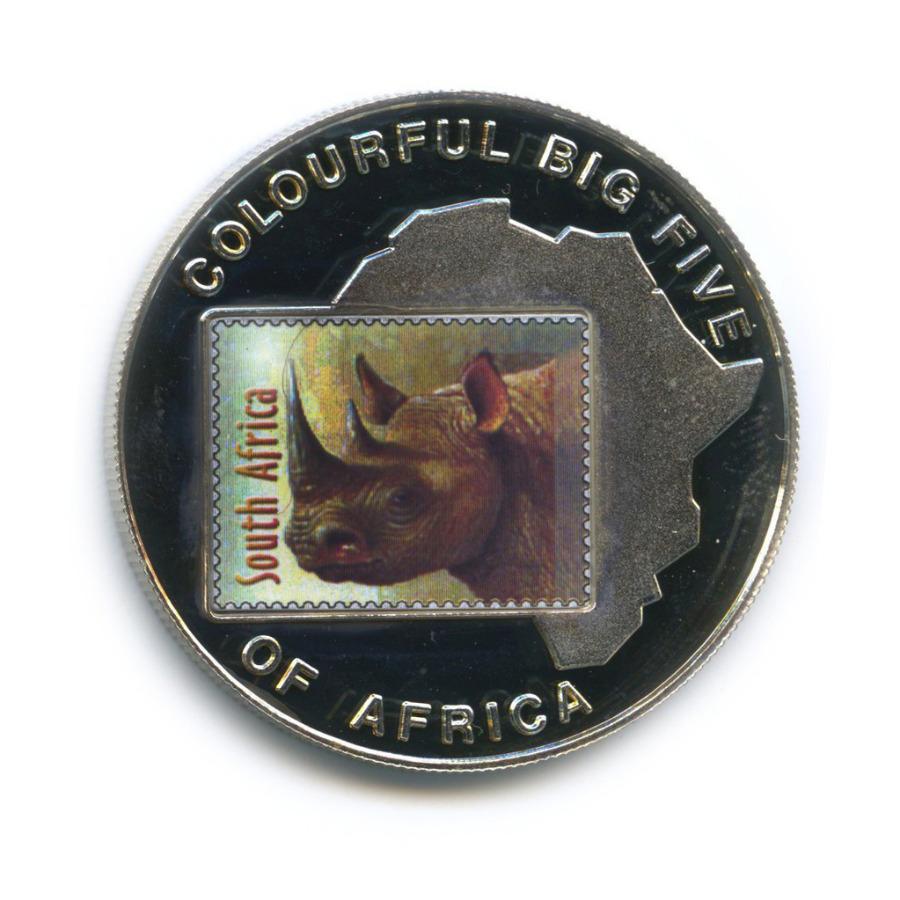 1000 шиллингов - Большая пятерка животных Африки - Носорог, Уганда (серебрение, цветная эмаль) 2001 года