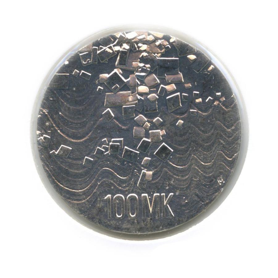 100 марок — 75 лет независимости (в холдере) 1992 года (Финляндия)