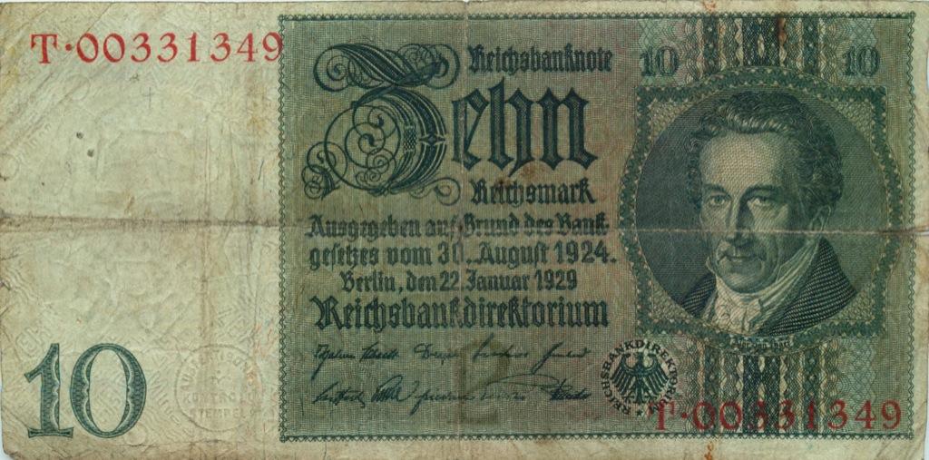 10 рейхсмарок 1929 года (Германия)