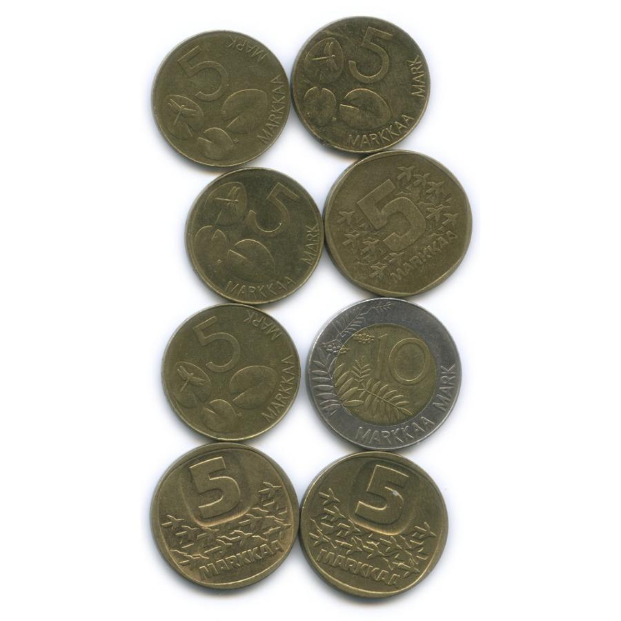 Набор монет 5 марок, 10 марок (разные года) (Финляндия)