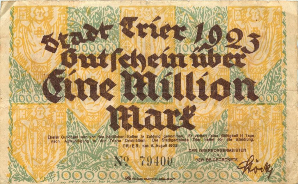 1 миллион марок 1923 года (Германия)