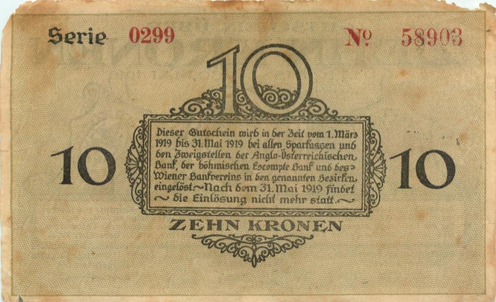 10 крон 1919 года (Австрия)