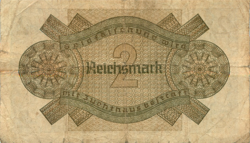 2 рейхсмарки 1939 года (Германия (Третий рейх))