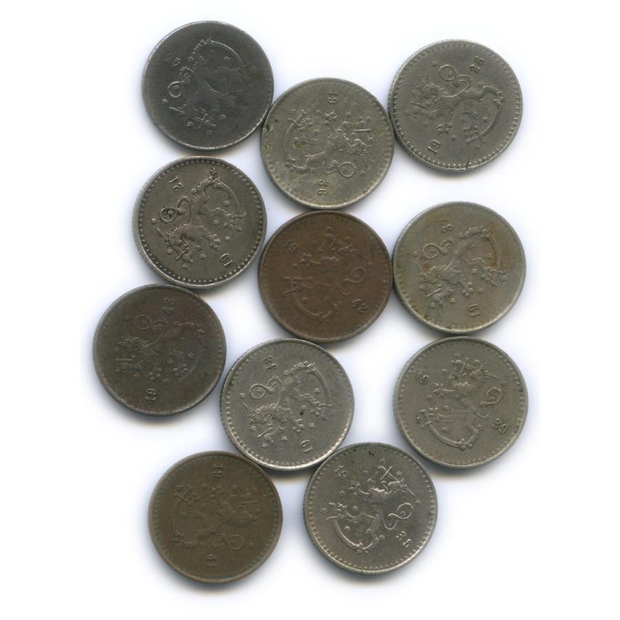 Набор монет 25 пенни (разные года) (Финляндия)