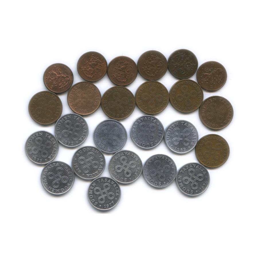 Набор монет 1 пенни (1919-1924, 1963-1979) (Финляндия)