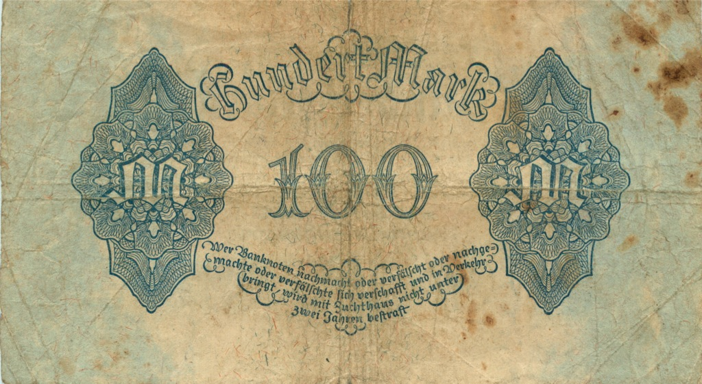 100 марок (Берлин) 1922 года (Германия)