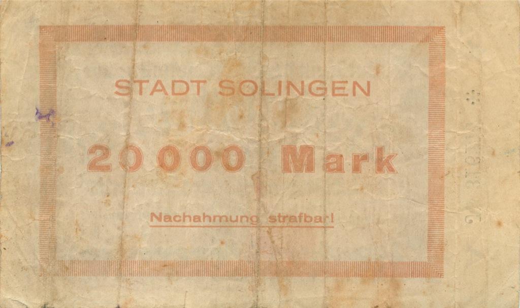 20000 марок (Золинген) 1923 года (Германия)