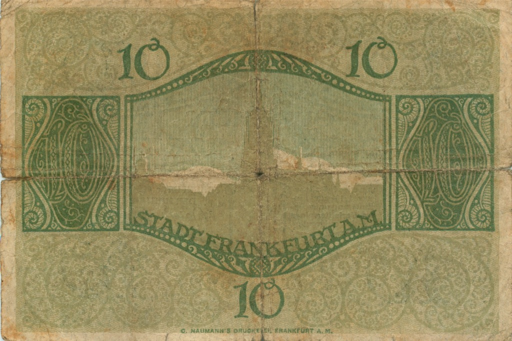 10 марок (Франкфурт) 1918 года (Германия)