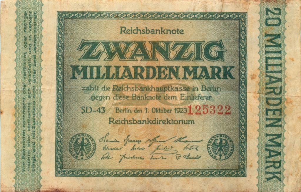 20 миллиардов марок (Берлин) 1923 года (Германия)