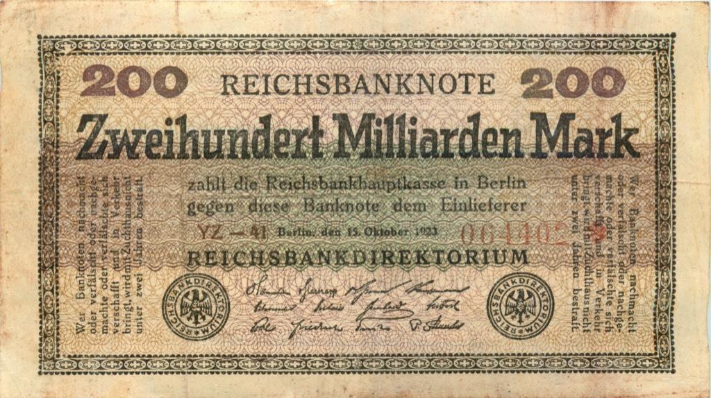 200 миллиардов марок (Берлин) 1923 года (Германия)