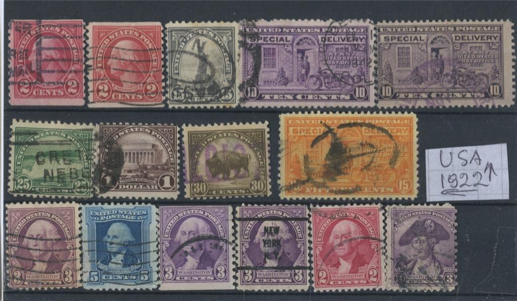 Набор почтовых марок 1922 года (США)